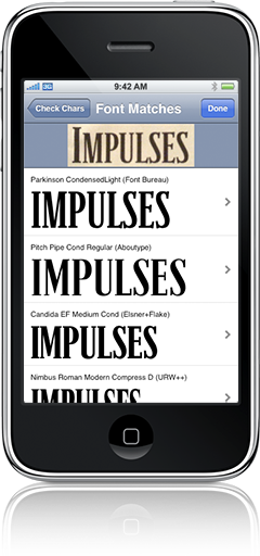 WhatTheFont – Font recognition on iPhone